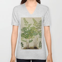 Maidenhair Ferns Unisex V-Neck