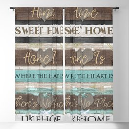 Home Sweet Home Series Blackout Curtain