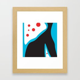 Blue Black Red Framed Art Print