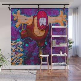 Luchador Graffiti Art Wall Mural