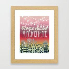 Home Sweet Apartment - Sunset Version Framed Art Print