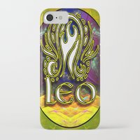 astrology iPhone & iPod Cases featuring Leo Zodiac Sign Astrology by CAP Artwork & Design