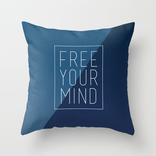 Free Your Mind II Throw Pillow