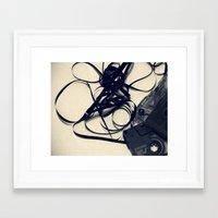 cassette Framed Art Prints featuring Cassette by Ashli Amabile Designs