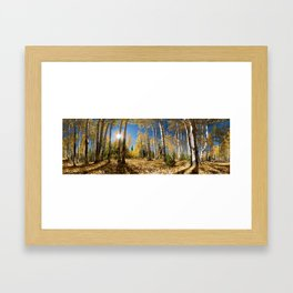 Crested Butte Colorado Fall Colors Panorama - 3 by OLena Art Framed Art Print
