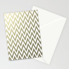 Gold Foil Chevron Stationery Cards