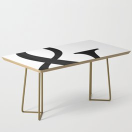 Typography, Ampersand, And Sign Coffee Table