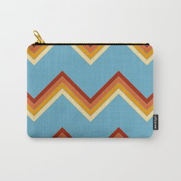 Surfing Summer Retro Stripes Pattern Latis Carry-All Pouch