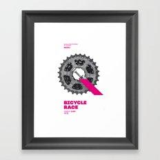 Bike to Life - BicycleRace Framed Art Print