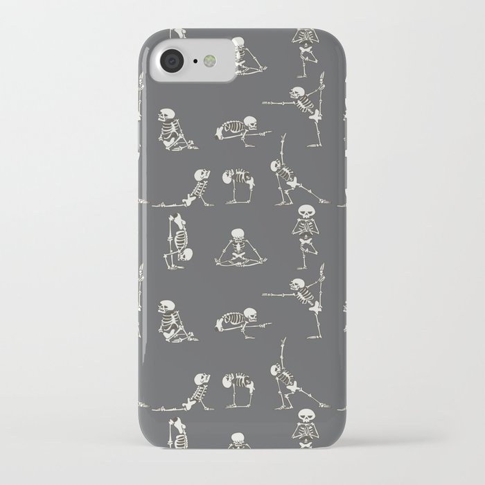 Skeleton Yoga_Gray iPhone Case