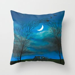 The Moon Gate Throw Pillow