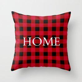 Home Red Buffalo Check Throw Pillow