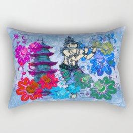 Krishna Rising Rectangular Pillow