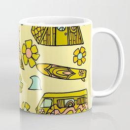 wanderlust // dream homes among the waves // surfy birdy art Coffee Mug