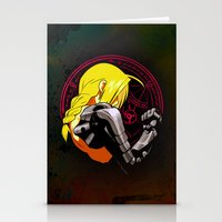 fullmetal alchemist Stationery Cards featuring YELLOW HAIR ALCHEMIST by BradixArt