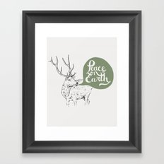 Christmas Carol Elk Framed Art Print
