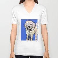 luigi V-neck T-shirts featuring Luigi by Pawblo Picasso