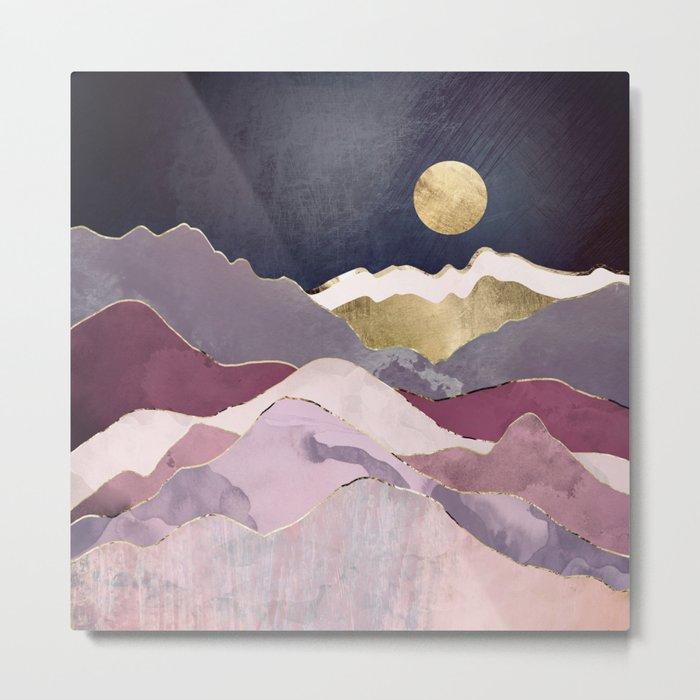 Raspberry Dream Metal Print - Purple square Metal Wall decor