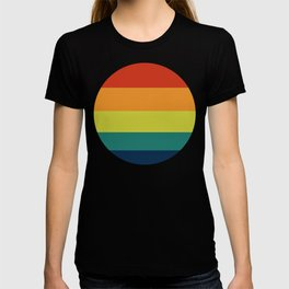 Vintage Bicycle Colorful Geometric Pattern T-shirt