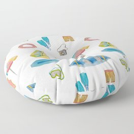 Vacation time Floor Pillow