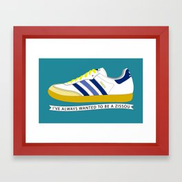 I've Always Wanted to be a Zissou - The Life Aquatic Framed Art Print