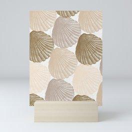 Sea Shells Pattern in Beige and Cream Mini Art Print
