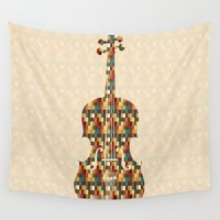 charlie Wall Tapestries featuring Charlie by Halamo Designs