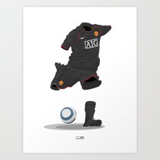 Manchester United 2007/08 - Champions League winners - Away Art Print