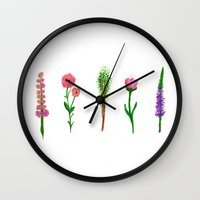 plants Wall Clocks featuring Plants by Clementine Losey