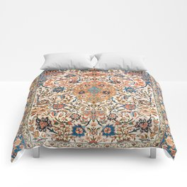 Isfahan Antique Central Persian Carpet Print Comforters