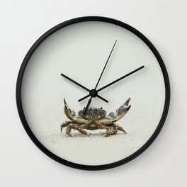 Open arms crab Wall Clock