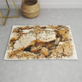 Hortus Conclusus: clods of earth Rug