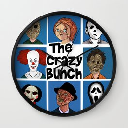 The Crazy Bunch Wall Clock