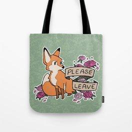 please leave Tote Bag