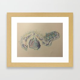 A dream is a Wish your heart Makes 2 Framed Art Print