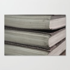 Hard Bound Pages  Canvas Print