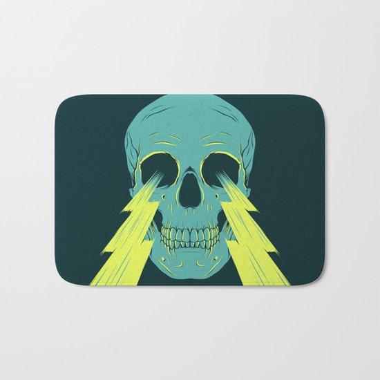 Lightning Skull Bath Mat