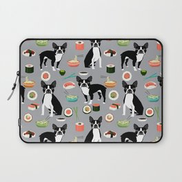 boston terrier sushi dog lover pet gifts cute boston terriers pure breeds Laptop Sleeve