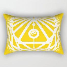 Radiant Abundance (yellow-white) Rectangular Pillow