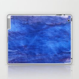 Cerulean blue abstract watercolor Laptop & iPad Skin