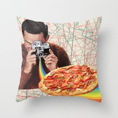 pizza obsession Throw Pillow