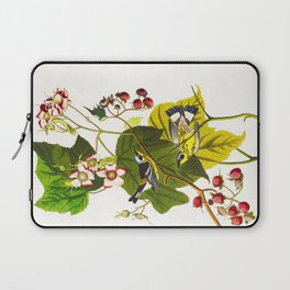 Black and Yellow Warbler Bird Laptop Sleeve