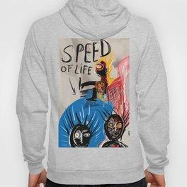 """The speed of life"" Street art graffiti and art brut Hoody"