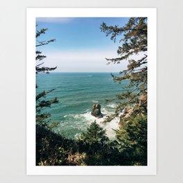 Into The Sea You & Me Art Print