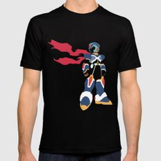 Megaman X Mens Fitted Tee Black LARGE