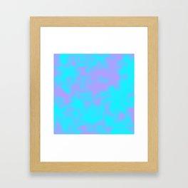Cotton Candy Clouds - Purple & Blue Framed Art Print