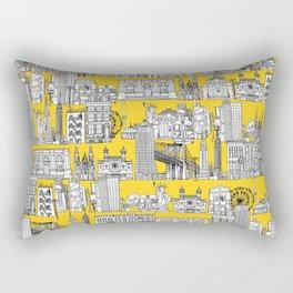 New York yellow Rectangular Pillow
