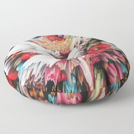 Floral Glitch II Floor Pillow