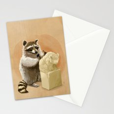 Raccoon in Pursuit of Perfection Stationery Cards