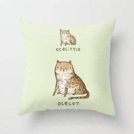 Ocelittle Ocelot Throw Pillow